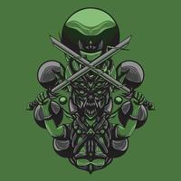 ilustração da arte do vetor goblin slayer