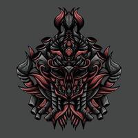ilustração da arte do vetor monstro escuro