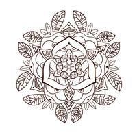 Flor de peônia ornamental bonito. Tatuagem antiga vetor