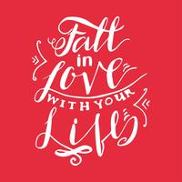 Caia no amor com sua vida vetor