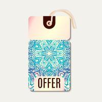 Tag para desconto de Banner de venda de Diwali. vetor