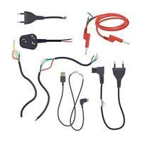 cabos elétricos cortados danificados perdem o plugue de rompimento do sinal vetor
