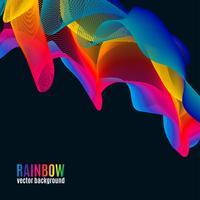Fundo de linhas do arco-íris vetor
