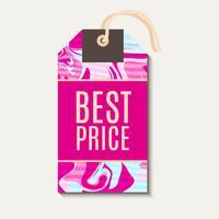 Tag brilhantes cor-de-rosa com pintinho shabbi vetor