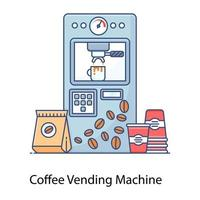 máquina de venda automática de café vetor