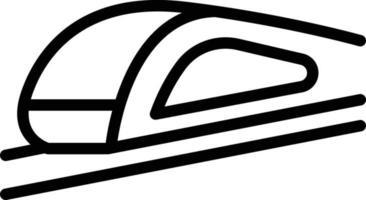 ícone de linha para alta velocidade vetor
