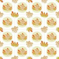 folhas de outono com textura floral perfeita vetor