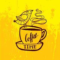 Mas primeiro rotulação de café.