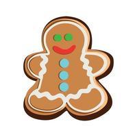 o homem-biscoito em um fundo branco. ilustração vetorial vetor