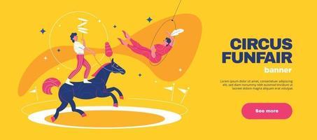 banner horizontal feira de circo vetor