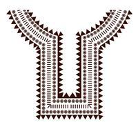 Geométricas, roupas de colar de jóias tribais. Projetos de linha de pescoço vetor