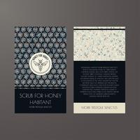 Conjunto de fundos sem costura vintage escuros para design de embalagens de luxo. vetor