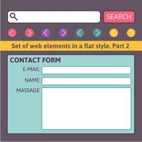 Simples entre em contato conosco modelos de formulário. vetor