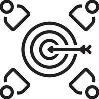 ícone de linha para o alvo do cliente vetor