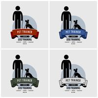 Cão de design de logotipo de treinamento.