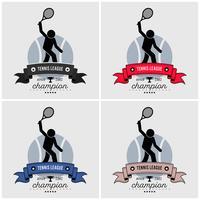 Design de logotipo de liga de tênis.