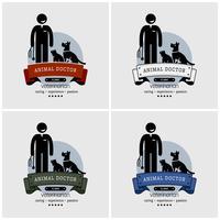 Design de logotipo de clínica veterinária.