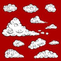 Conjunto de vetores de nuvem.