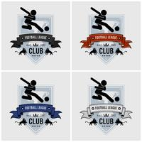 Design de logotipo de clube de time de futebol. vetor
