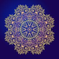 Mandala Tulora de amuleto redonda vintage floral