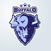 Mascote de cabeça de búfalo