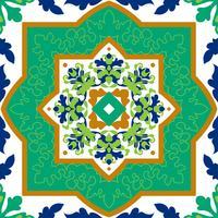 Telhas cerâmicas clássicas espanholas. Padrões sem emenda. vetor