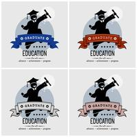 Design de logotipo de graduação de estudante.
