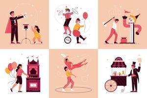 conceito de design de parque de diversões de circo vetor