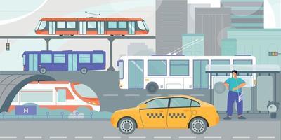 transporte público apartamento da cidade vetor
