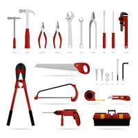 Conjunto de ferramentas de hardware. vetor