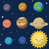 Sistema solar vetor