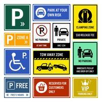 Sinais de estacionamento