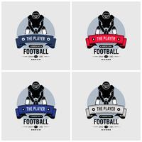Design de logotipo de clube de futebol americano.