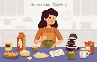 ilustração vetorial de cozinha caseira vetor