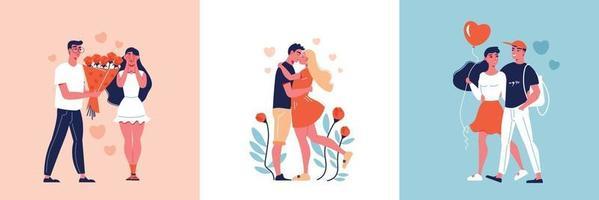 conceito de design de encontro de amor vetor