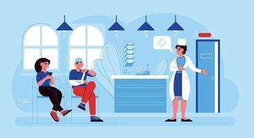 composição de espera de medicina hospitalar vetor
