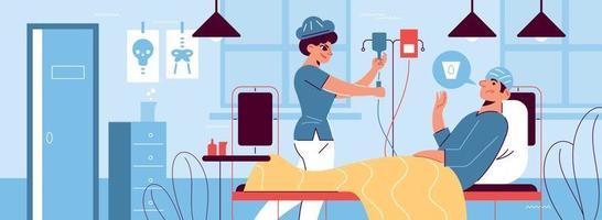 composição horizontal de medicina hospitalar vetor