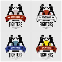MMA design de logotipo de artes marciais mistas.