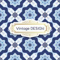 Antiguidade, azulejos do fundo do vintage no estilo português das telhas.