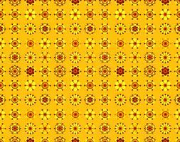 Padrão sem emenda de flores amarelas vintage. vetor