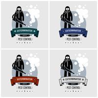 Design de logotipo Exterminador. vetor