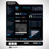 Modelo de elemento de Web Design.