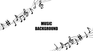 fundo de melodia de notas de música. vetor