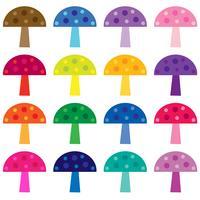 clipart de vetor de cogumelos coloridos