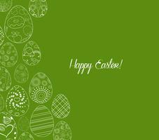 fundo de ornamento de ovos de Páscoa feliz vetor