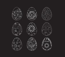 Conjunto de ícones de ovos de Páscoa