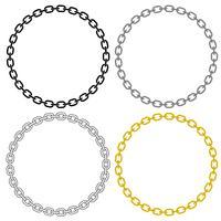 Ilustração em vetor círculo Link de corrente de metal