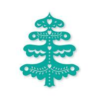 Árvore de Natal. Modelo de corte a laser vetor