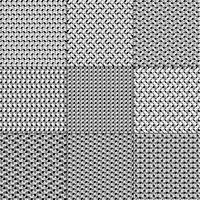 padrões geométricos cinza brancos pretos vetor