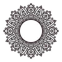 Mandalas Elementos decorativos étnicos em um círculo.